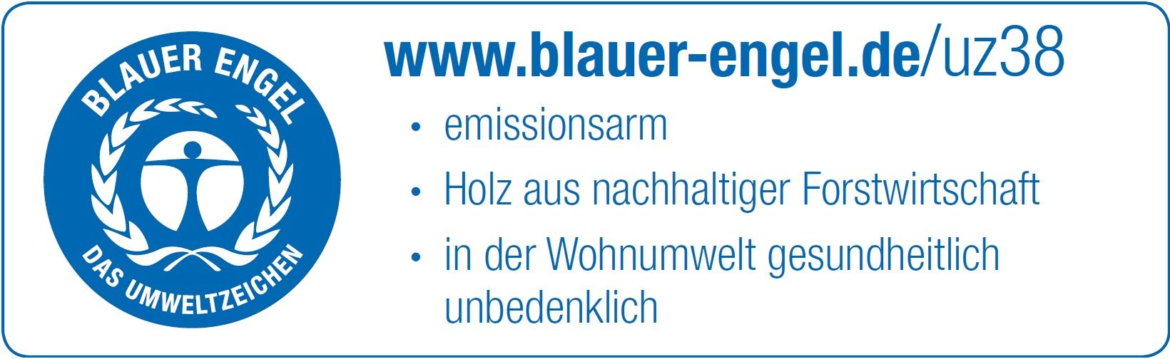 Zertifikat Blauer Engel