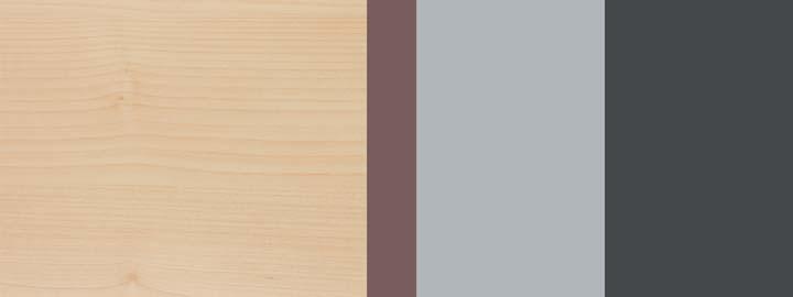 Farbklang Decor Ahorn, Mocca-Dunkelbraun, Weißaluminium, Graphit