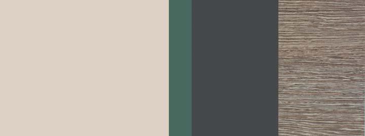 Farbklang Natursand, Salbei-Grün, Graphit, Decor Wenge hell