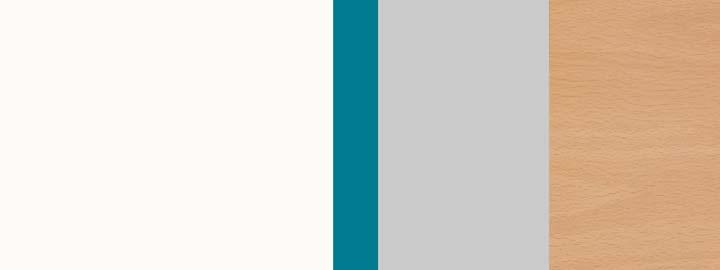 Farbklang Weiß, Blau, Lichtgrau, Decor Wildbuche