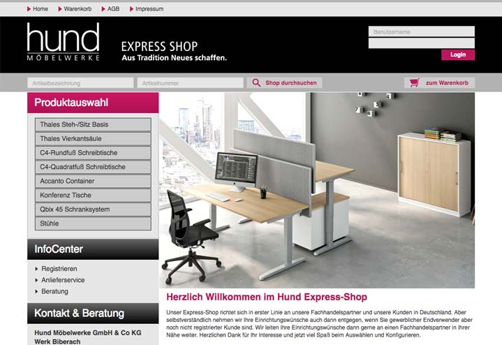 Teaser Hund Möbelwerke Online Express Shop