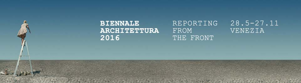 Banner für die Biennale Architettura