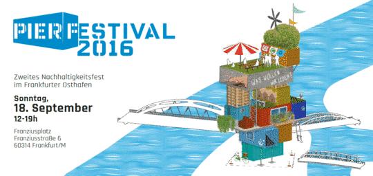 Flyer des Pier Festivals 2016 im Frankfurter Osthafen