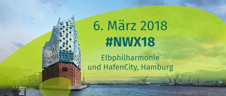 Plakat für NWX18 mit der Elbphilharmonie