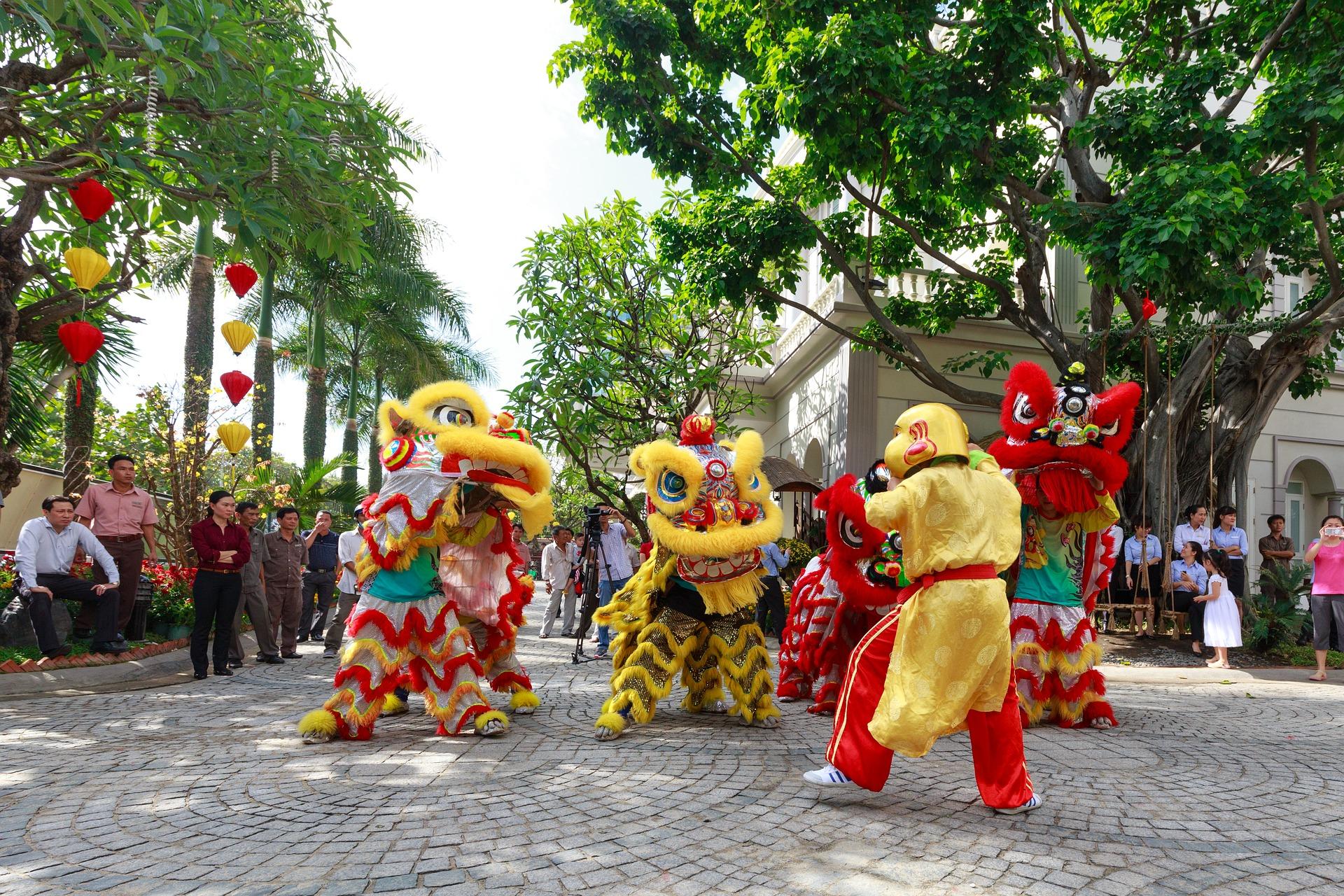Foto einer Parade