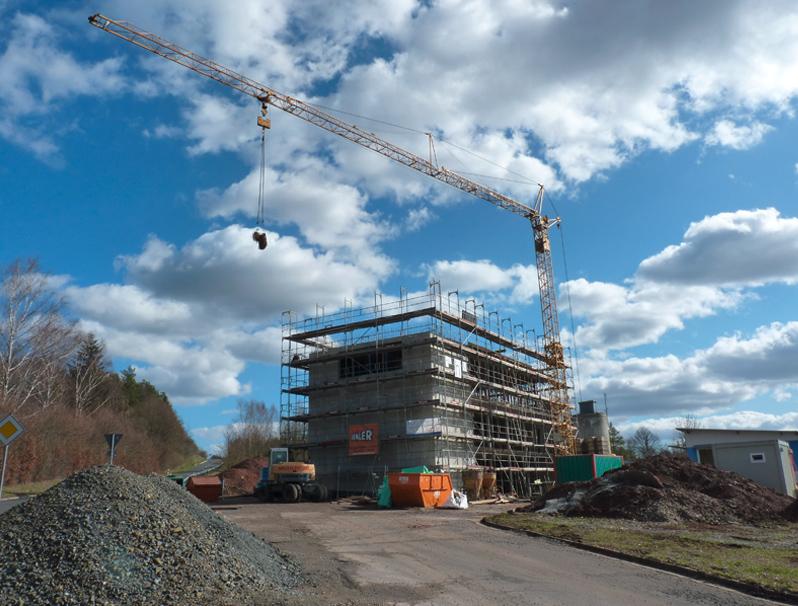 Die Bauarbeiten an unserem neuen Ausstellungsgebäude sind in vollem Gange.
