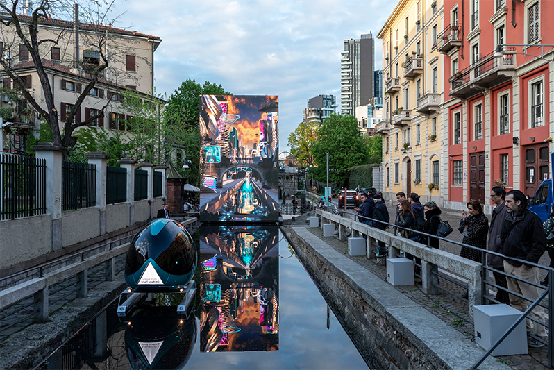 Ganz Mailand steht im Zeichen von Leonardo da Vinci: An jeder Ecke sind moderne Designelemente zu finden.