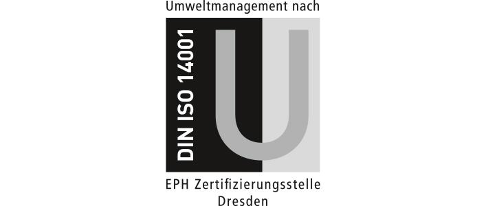 Zertifikat DIN ISO 14001 für Umweltmanagement