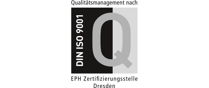 Zertifikat DIN ISO 9001 für Qualitätsmanagement