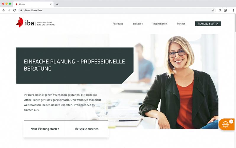IBA Office-Planer Website | Hund Möbelwerke