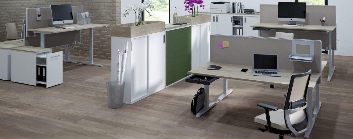 Thales Tischsystem Arbeitsplatz | Hund Möbelwerke
