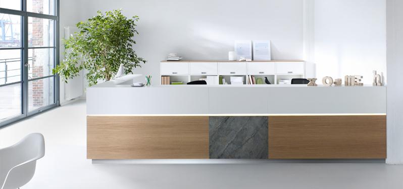 Empfangstresen –Büromöbel für den Empfangsbereich von Hund Möbelwerke
